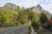 Street in the Bicaz Gorge in Romania - In the Bicaz Gorge