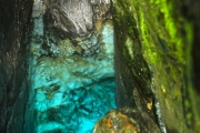 The fountain of the river Soca in Slovenia - Blue cave