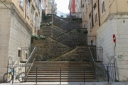 Stairs between two buildings in Trieste - Staircase