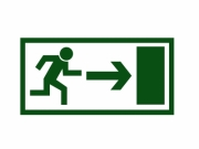 Simple green exit sign vector on white background - Exit sign