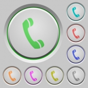 Set of call sunk push buttons. Well-organized layer, color swatch and graphic style structure. Easy to recolor. - Blank call buttons