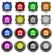 Set of Bank glossy web buttons. Arranged layer structure. - Bank button set