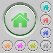 Set of home sunk push buttons. Well-organized layer, color swatch and graphic style structure. Easy to recolor. - Home push buttons