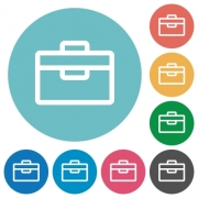 Flat toolbox icon set on round color background. - Flat toolbox icons