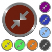 Set of glossy coin-like color resize small buttons. - Color resize small buttons