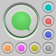 Set of color chat sunk push buttons. - Chat push buttons