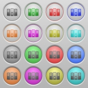 Set of Server hosting plastic sunk spherical buttons. - Server hosting plastic sunk buttons