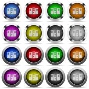 Set of Server hosting glossy web buttons. Arranged layer structure. - Server hosting button set