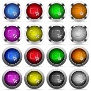 Set of drag glossy web buttons. Arranged layer structure. - Drag button set