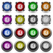 Set of clock glossy web buttons. Arranged layer structure. - Clock button set