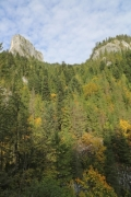 The Piatra Altarului (Altar Stone) in Bicaz Gorge in Romania - The peak Piatra Altarului