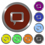 Set of color glossy coin-like comment buttons. - Color comment buttons