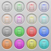 Set of checklist plastic sunk spherical buttons. - Checklist plastic sunk buttons
