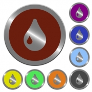Set of color glossy coin-like drop buttons. - Color drop buttons