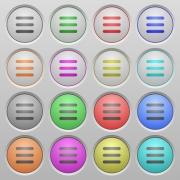 Set of menu plastic sunk spherical buttons. - Menu plastic sunk buttons