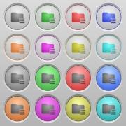 Set of Folder options plastic sunk spherical buttons. - Folder options plastic sunk buttons