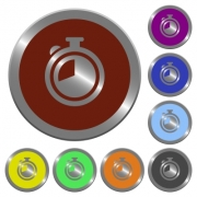 Set of color glossy coin-like timer buttons. - Color timer buttons