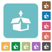 Flat unpack icons on rounded square color backgrounds. - Flat unpack icons