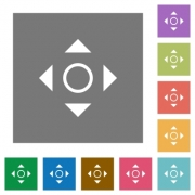 Scroll flat icon set on color square background. - Scroll square flat icons