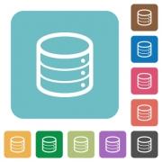 Flat database icons on rounded square color backgrounds. - Flat database icons - Large thumbnail