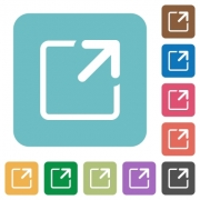 Flat maximize window icons on rounded square color backgrounds. - Flat maximize window icons
