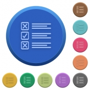 Set of round color embossed questionnaire buttons - Embossed questionnaire buttons