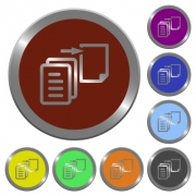Set of color glossy coin-like move file buttons. - Color move file buttons