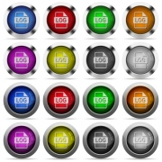 Set of LOG file format glossy web buttons. Arranged layer structure. - LOG file format glossy button set