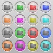 Set of Upload folder plastic sunk spherical buttons. - Upload folder plastic sunk buttons