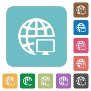 Flat remote terminal icons on rounded square color backgrounds. - Flat remote terminal icons