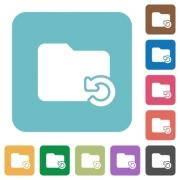 Flat undo folder operation icons on rounded square color backgrounds. - Flat undo folder operation icons