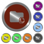 Set of color glossy coin-like copy folder buttons - Color copy folder buttons