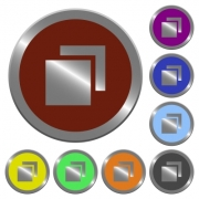 Set of color glossy coin-like overlapping elements buttons - Color overlapping elements buttons