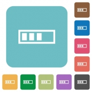 Flat progressbar icons on rounded square color backgrounds. - Flat progressbar icons