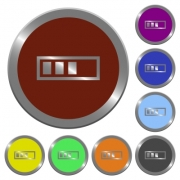 Set of color glossy coin-like progressbar buttons - Color progressbar buttons