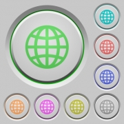 Globe color icons on sunk push buttons - Globe push buttons