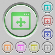 Move window color icons on sunk push buttons - Move window push buttons