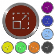 Maximize element icons in color glossy coin-like buttons - Maximize element color buttons