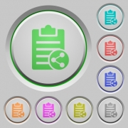 Share note color icons on sunk push buttons - Share note push buttons