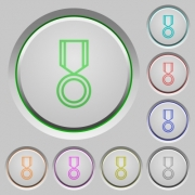 Medal color icons on sunk push buttons - Medal push buttons