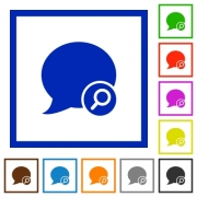 Find blog comment flat color icons in square frames - Find blog comment flat framed icons