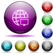 Remote terminal color glass sphere buttons with shadows. - Remote terminal glass sphere buttons