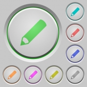 Pencil color icons on sunk push buttons - Pencil push buttons