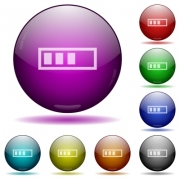 Progressbar color glass sphere buttons with shadows. - Progressbar glass sphere buttons