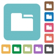 Tab folder flat icons on simple color square background. - Tab folder square flat icons