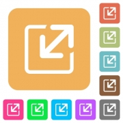Resize window icons on rounded square vivid color backgrounds - Resize window rounded square flat icons