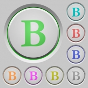 Bold font type color icons on sunk push buttons - Bold font type push buttons