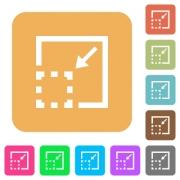 Minimize element icons on rounded square vivid color backgrounds. - Minimize element rounded square flat icons
