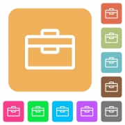 Toolbox icons on rounded square vivid color backgrounds. - Toolbox rounded square flat icons