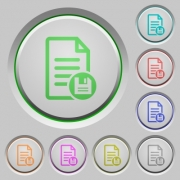 Save document color icons on sunk push buttons - Save document push buttons